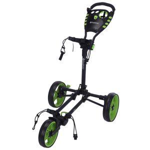 Fastfold flat trolley zwart groen