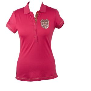 Girls golf polo voorkant